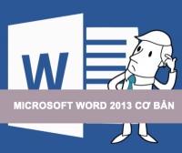 Microsoft Word cơ bản 2013